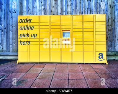 Amazon delivery / pickup storage bank. - Stock Image