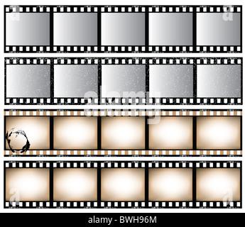 Film strip set. - Stock Image