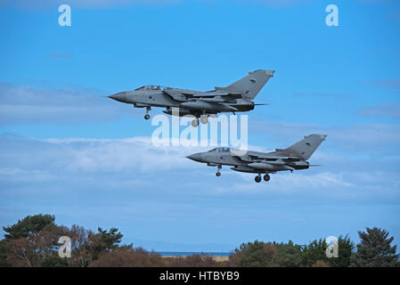 A pair of RAF GR4 Tornados returning to their home base at RAF Lossiemouth in Morayshire, North East Scotland. - Stock Image