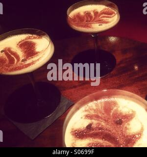 Espresso martinis - Stock Image