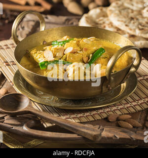Murgh badami. Almond chicken curry. India food. - Stock Image