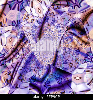 Patterned Silk - Stock Image