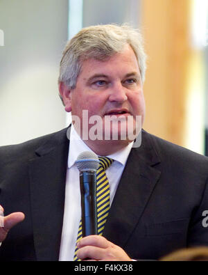 FILE PICS: Odney, Cookham, Berkshire, UK. 1st October, 2015. Ex-Managing Director of waitrose Mark price speaking - Stock Image