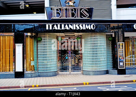 Bibis italian Restaurant, Leeds, England - Stock Image