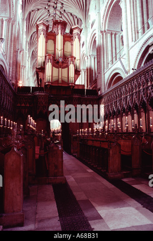 Interior of Norwich Cathedral Norfolk England - Stock Image