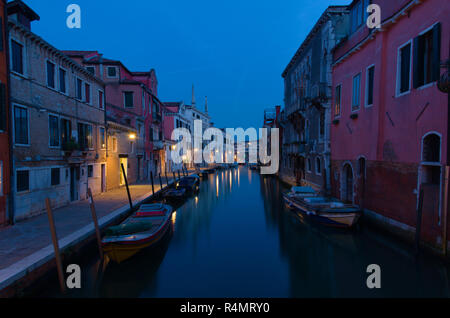 Venice canal at Dawn - Stock Image