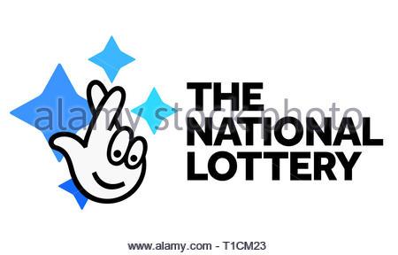 National Lottery logo icon - Stock Image
