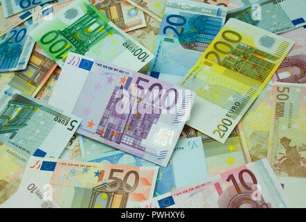 Euro notes - Stock Image