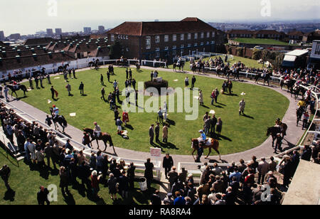 Brighton Races 28 April 1986 Photographed with permission for the Sunday Express magazine in 1986 - Stock Image