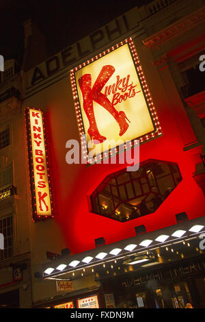 Kinky Boots the musical at the Adelphi Theatre in London England - Stock Image