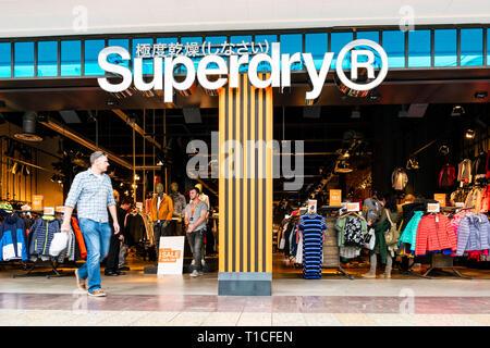 Superdry store, UK. - Stock Image