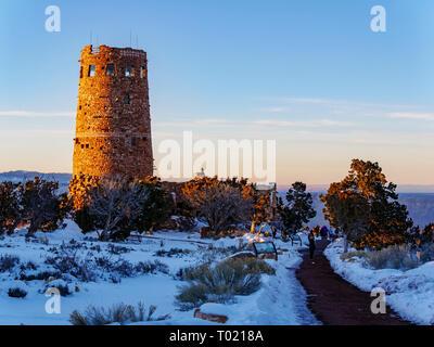 Desert View Watchtower. Grand Canyon National Park, Arizona. - Stock Image