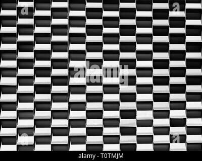 Black and white checkered pattern, background or abstract design for symmetrical concept of orderly arrangement. - Stock Image