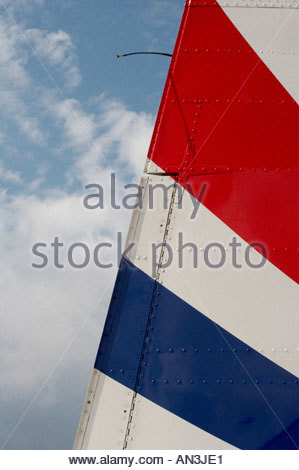 Grobnik Croatia Air show 2005 Pilatus PC9 trainer Croatian Air Force tail vertical surfaces - Stock Image