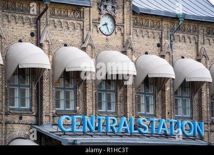 Exterior of Gothenburg central railway station, Sweden - Stock Image
