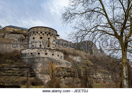 The Maschikuliturm of Festung Marienberg was a principal defensive structure in the fortress where the prince-bishops - Stock Image