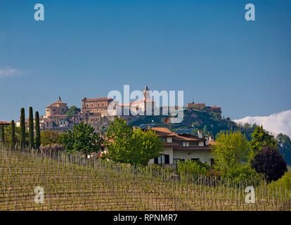 Italian Village and Countryside - Stock Image