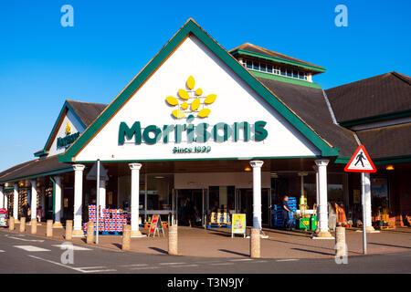 Morrisons supermarket, UK. - Stock Image