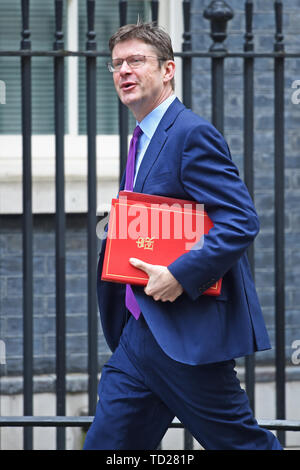 Greg Clarke, Secretary of State for Business, arrives for a cabinet meeting at 10 Downing Street, London. - Stock Image