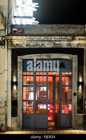 Exterior of Oficina Arte Gastronomia, Porto, Portugal. - Stock Image