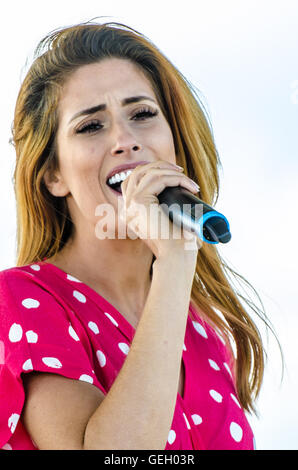 Stacey Solomon is an English singer, television presenter and reality tv star. Former Queen of the Jungle - Stock Image