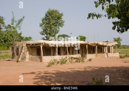 Talawona Lodge, Wechiau Community Hippo Sanctuary, near Wa, Ghana. - Stock Image
