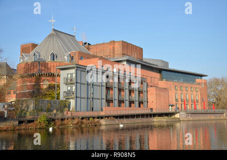 The Royal Shakespeare Theatre on the River Avon in Stratford-upon-Avon - Stock Image