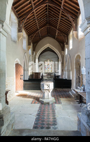 St George's Church, Edworth, Bedfordshire, UK, a redundant Anglican Church under the care of  the Churches Conservation Trust - Stock Image