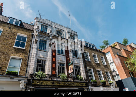 London, UK - May 15, 2019: The Two Brewers pub in Seven Dials area - Stock Image