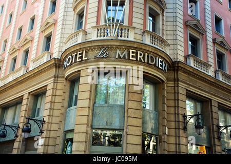 Hotel Le Meridien, Barcelona, Spain - Stock Image
