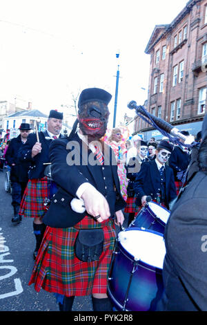 Ayrshire, UK. 28th Oct, 2018. Adults and children alike entered into the spirit of TamFest and dressed up for the finale procession through Ayr Town Centre at the end of the 2 day event. Credit: PictureScotland/Alamy Live News - Stock Image