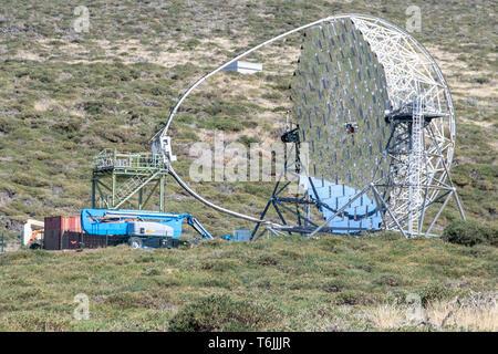 Astronomy telescopes at roque de los muchachos, La Palma, Canary Islands, Spain - Stock Image
