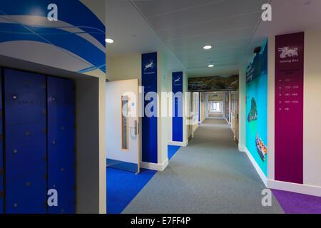 Empty corridor at Park Community Schoo.l - Stock Image