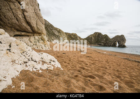 Durdle door in Jurassic coast, Dorset,Uk - Stock Image