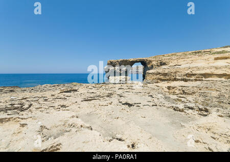 Azure window on Gozo Island - Malta - Stock Image