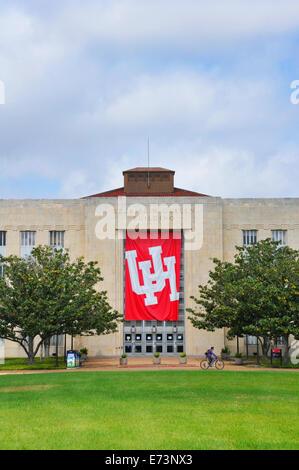 Ezekiel Cullen building at University of Houston, Texas - Stock Image