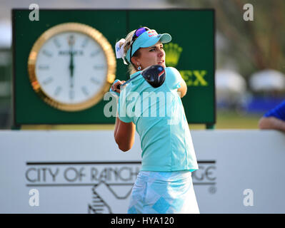 Rancho Mirage, California, USA. 2nd Apr, 2017. Lexi Thompson on the 18th during the final round of the ANA Inspiration - Stock Image