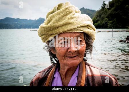 Balinese Woman smiling - Stock Image