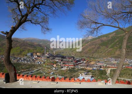 Wutai mountains, Shanxi, China - Stock Image