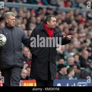 Football manager coach Gerard Houllier Footballer Liverpool v Wolverhampton Wanderers 20 March 2004 - Stock Image