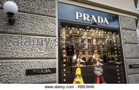 Prada store - Stock Image