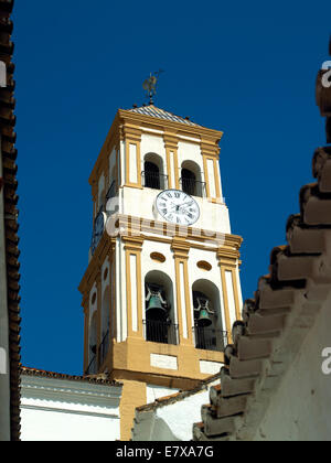 A church bell tower in Marbella - Stock Image