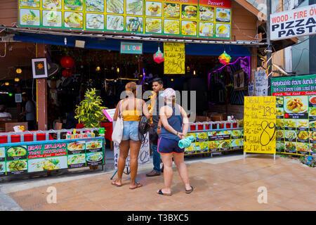 Baibuaa restaurant, Main road, Road 4203, Ao Nang, Krabi province, Thailand - Stock Image