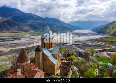 Ananuri Fortress Complex in Northern Georgia, taken in April 2019rn' taken in hdr - Stock Image