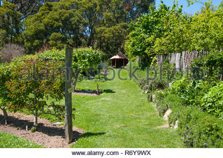 Garden of St Erth in the small goldfields town of Blackwood, Victoria, Australia - Stock Image