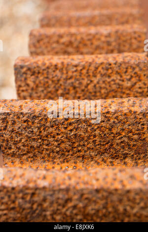 Large cog with rusty gear teeth detail - Stock Image