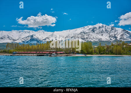 Landscape from Lake Van in spring time, Turkey - Stock Image