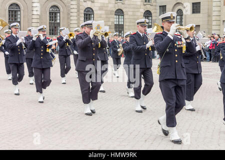 Change of Guards Parade Stockholm Sweden - Stock Image