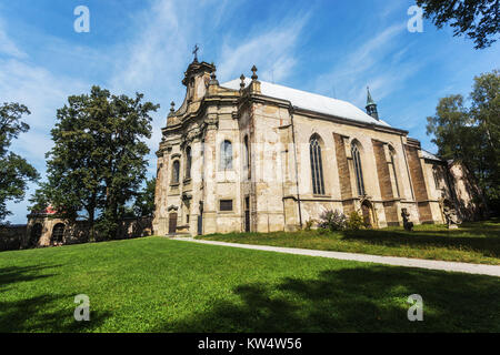 Church of the Holy Trinity, Rychnov Nad Kneznou, Czech  Republic, Europe - Stock Image