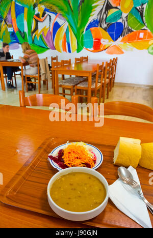 Kukuruzna manestra, Markata self service restaurant, Pula, Istria, Croatia - Stock Image